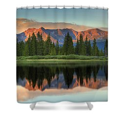 Little Molas Lake Sunset 2 Shower Curtain