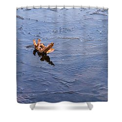 Little Navy - Fram In Pack Ice - Featured 3 Shower Curtain by Alexander Senin