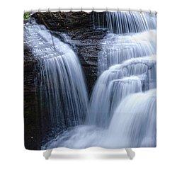 Shower Curtain featuring the photograph Little Niagara by Debra Fedchin