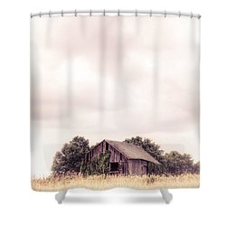 Shower Curtain featuring the photograph Little Old Barn In The Field - Ontario County New York State by Gary Heller