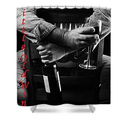 Little Old Wine Drinker Me Shower Curtain by Duncan Selby