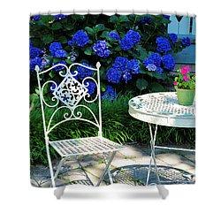 Little Patio Chair Shower Curtain