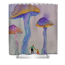 Little People Shower Curtain by Beverley Harper Tinsley