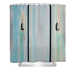 Little Pump House Door Shower Curtain by Asha Carolyn Young