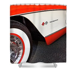 Little Red Corvette Palm Springs Shower Curtain by William Dey