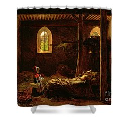 Little Red Riding Hood Shower Curtain by Fleury Francois Richard