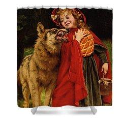 Little Red Riding Hood Shower Curtain by Gabriel Joseph Marie Augustin Ferrier