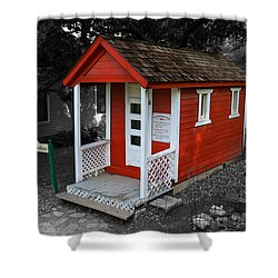 Little Red School House Shower Curtain by Richard J Cassato