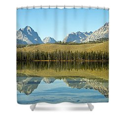 Little Redfish Lake Shower Curtain