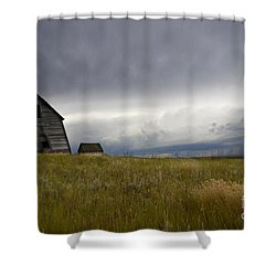 Little Remains Shower Curtain by Bob Christopher