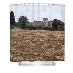 Little Rissington Church 2 Shower Curtain by John Williams