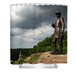 Little Round Top Hill Gettysburg Shower Curtain by James Brunker