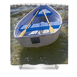 Little Rowboat Shower Curtain by Verena Matthew