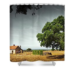 Little Rural House Shower Curtain by Carlos Caetano