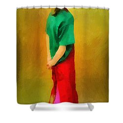 Little Shopgirl Shower Curtain