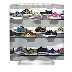 Little Sneakers Shower Curtain
