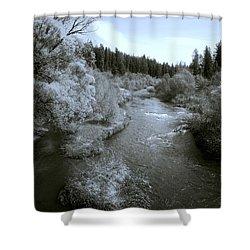 Little Spokane River Beauty Shower Curtain by Daniel Hagerman