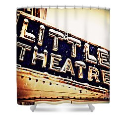 Little Theatre Retro Shower Curtain