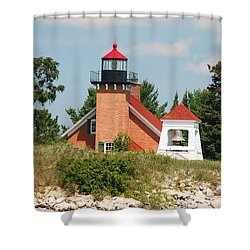 Shower Curtain featuring the photograph Little Traverse Lighthouse No.2 by Janice Adomeit