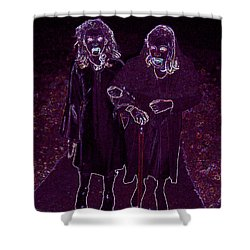 Little Vampires Shower Curtain by First Star Art