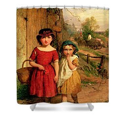 Little Villagers Shower Curtain by George Smith