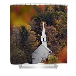 Little White Church - D007297 Shower Curtain