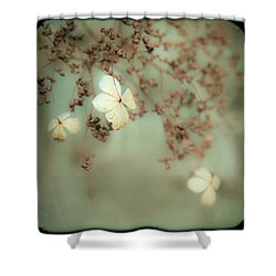 Little White Flowers - Floral - The Little Things In Life Shower Curtain