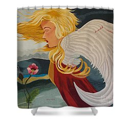 Little Wings Hand Embroidery Shower Curtain by To-Tam Gerwe