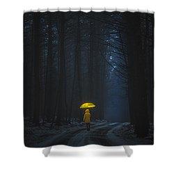 Little Yellow Riding Hood Shower Curtain