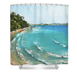 Litttle Cove Beach Noosa Heads Queensland Australia Shower Curtain