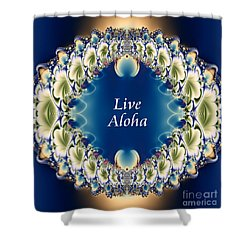Live Aloha Shower Curtain by Renee Trenholm