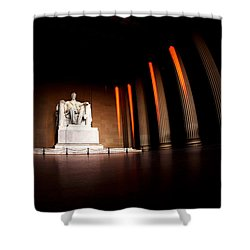Live By The Light Shower Curtain by Mitch Cat