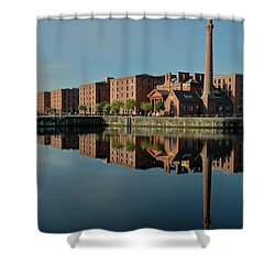 Liverpool Canning Docks Shower Curtain by Jonah  Anderson