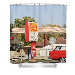 Living In The Fifties Shower Curtain