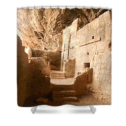 Shower Curtain featuring the photograph Living In The Rocks by Kerri Mortenson