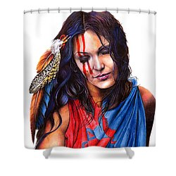 Living In Two Worlds Shower Curtain
