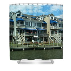 Shower Curtain featuring the photograph Living On The Dock Of The Bay by Emmy Marie Vickers