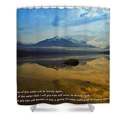 Living Water Shower Curtain by Jeff Swan