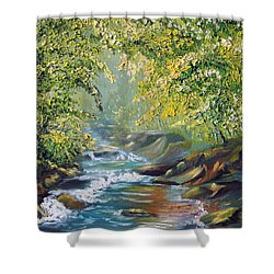 Living Water Shower Curtain by Meaghan Troup