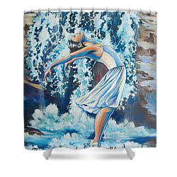 Living Water Scripture Shower Curtain by Tamer and Cindy Elsharouni
