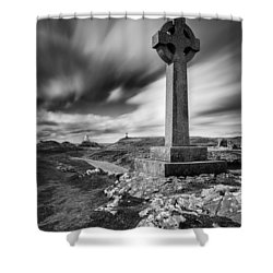 Llanddwyn Island Shower Curtain by Dave Bowman