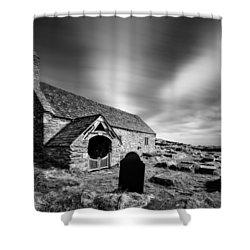 Llangelynnin Church Shower Curtain by Dave Bowman