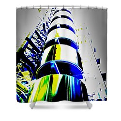 Lloyd's Building London Art Shower Curtain by David Pyatt