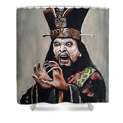 Lo Pan Shower Curtain by Tom Carlton