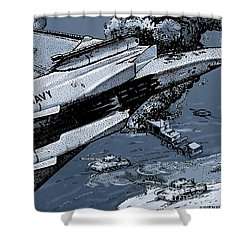 Loaded For Tank Shower Curtain by Joseph Juvenal