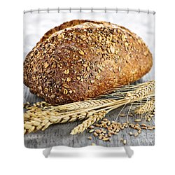 Loaf Of Multigrain Bread Shower Curtain by Elena Elisseeva