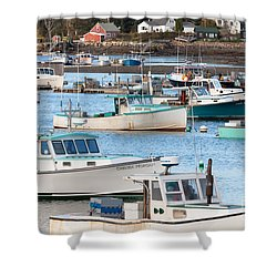 Lobster Boats In Bass Harbor I Shower Curtain