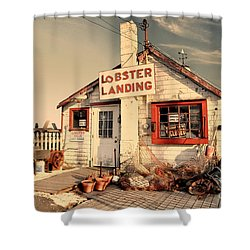 Lobster Landing Clinton Connecticut Shower Curtain