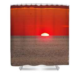 Lobster Pots Dance In The Sea  At Sunrise Shower Curtain