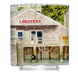Shower Curtain featuring the painting Lobster Shack by Carol Flagg
